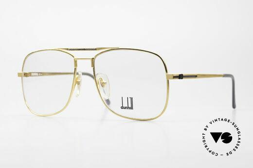 Dunhill 6038 Vergoldete 80er Titanium Brille Details