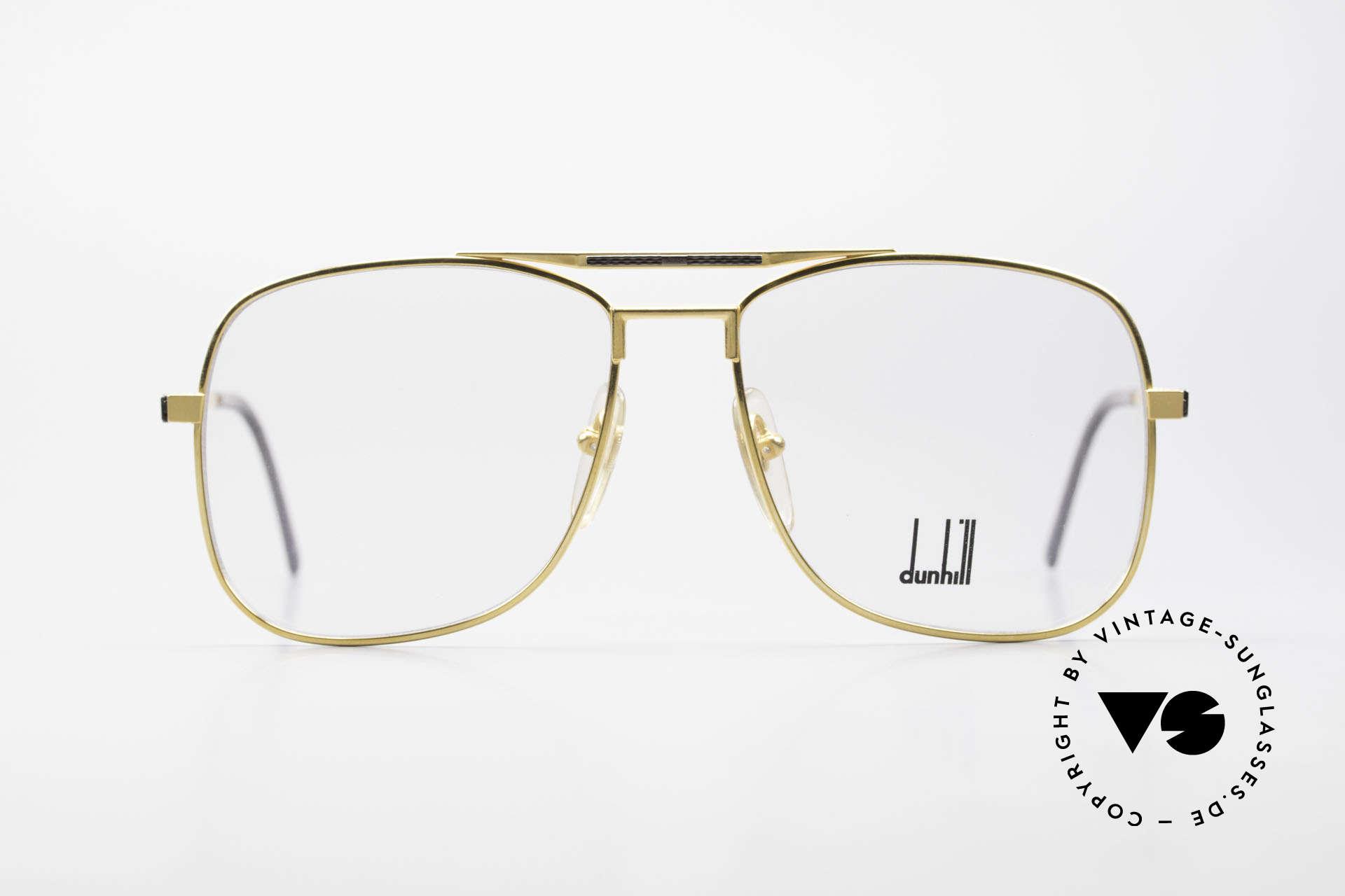 Dunhill 6038 Vergoldete 80er Titanium Brille, hartvergoldete A. DUNHILL Titanium-Brillenfassung, Passend für Herren