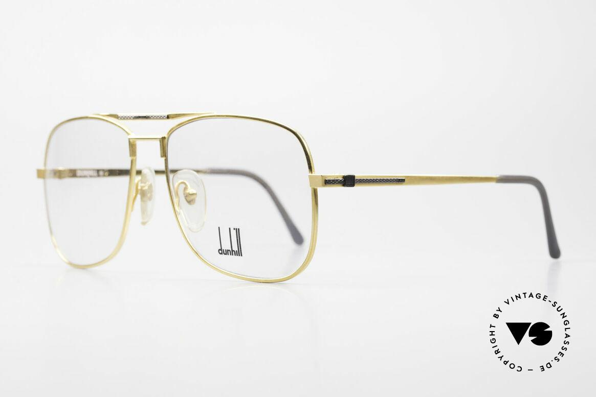 Dunhill 6038 Vergoldete 80er Titanium Brille, Produktionskosten 1986 für dieses Modell = 120,- DM, Passend für Herren