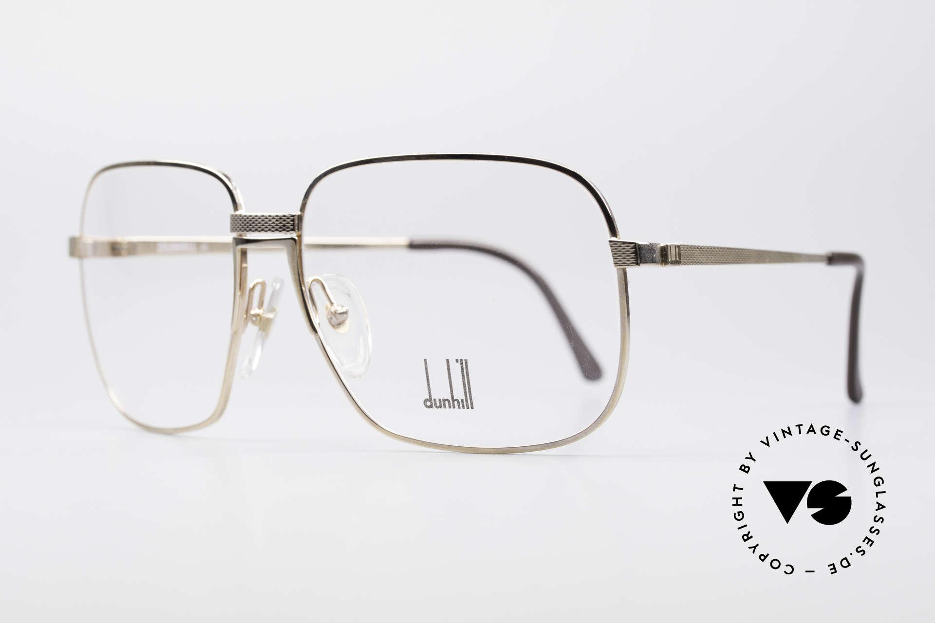 Dunhill 6090 Vergoldete 90er Herrenbrille, edle, vergoldete Fassung mit flexibler Rahmenbrücke, Passend für Herren