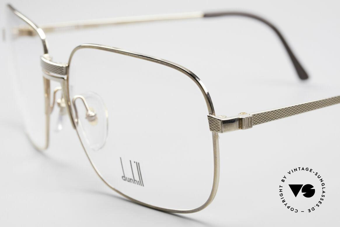Dunhill 6090 Vergoldete 90er Herrenbrille, Barley-Verfahren: winzige Facetten für sanften Glanz, Passend für Herren