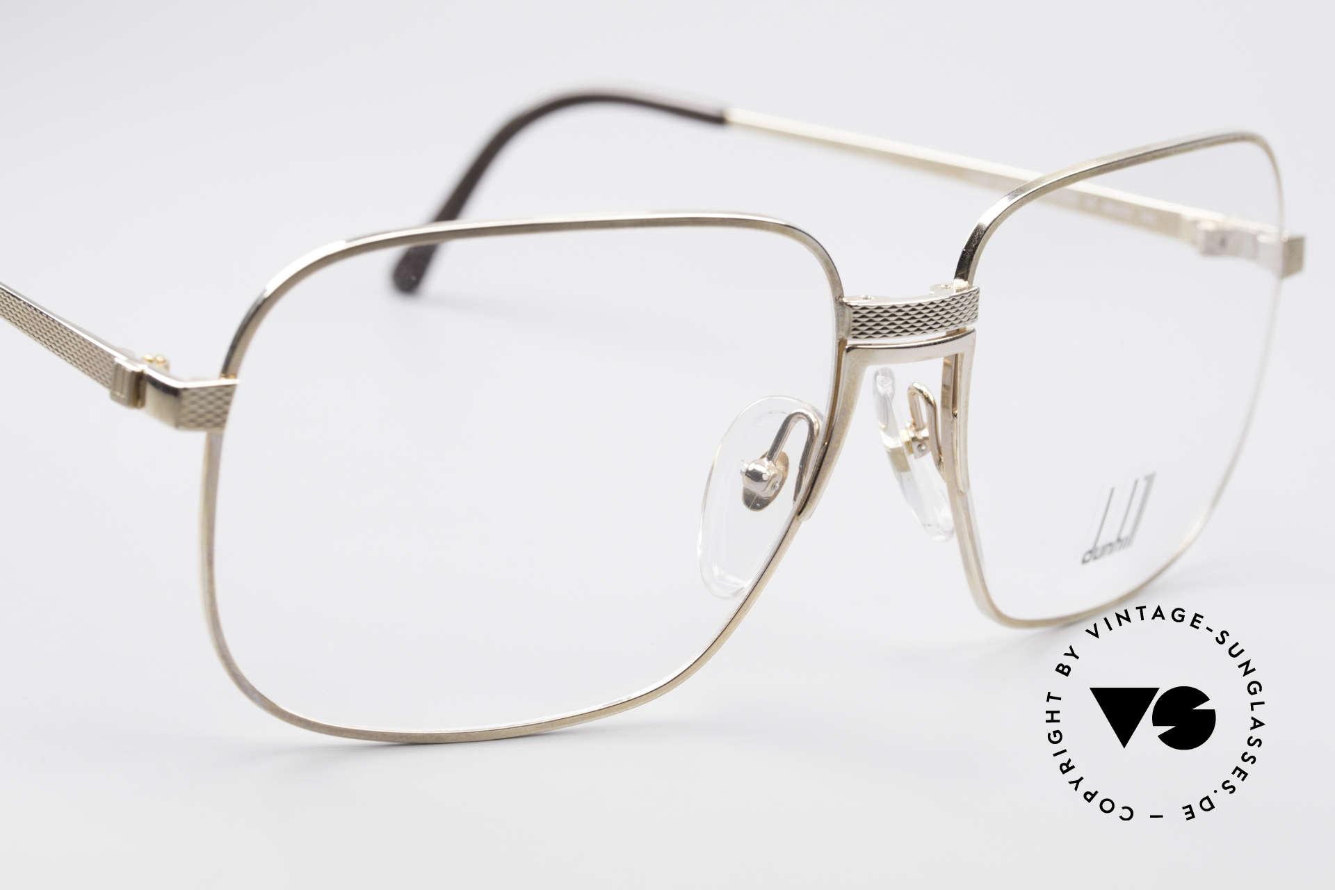 Dunhill 6090 Vergoldete 90er Herrenbrille, ungetragen mit original Etui (wahres Sammlerstück), Passend für Herren