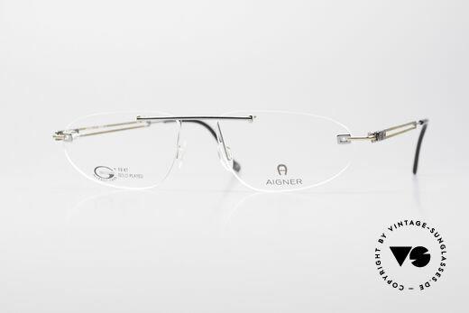 brillen und sonnenbrillen vintage sunglassesaigner ea115 vergoldete randlose brille details