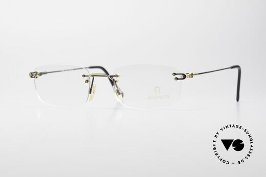 Aigner EA360 Randlose Vintage Brille Details