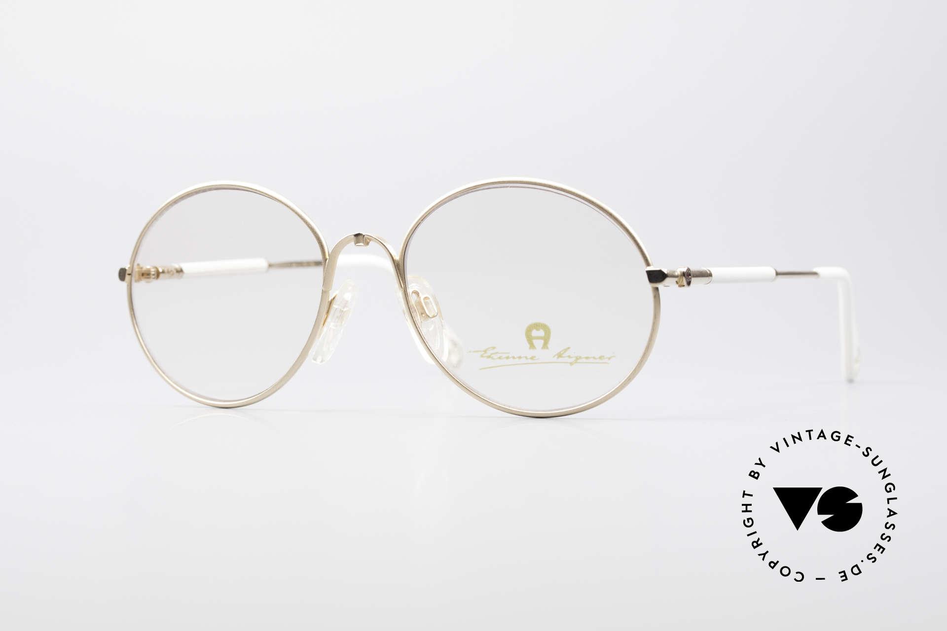 Aigner EA13 Kleine Runde 80er Brille, Etienne Aigner vintage Designer-Brille der 1980er, Passend für Damen