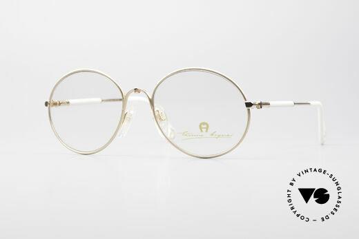 Aigner EA13 Kleine Runde 80er Brille Details