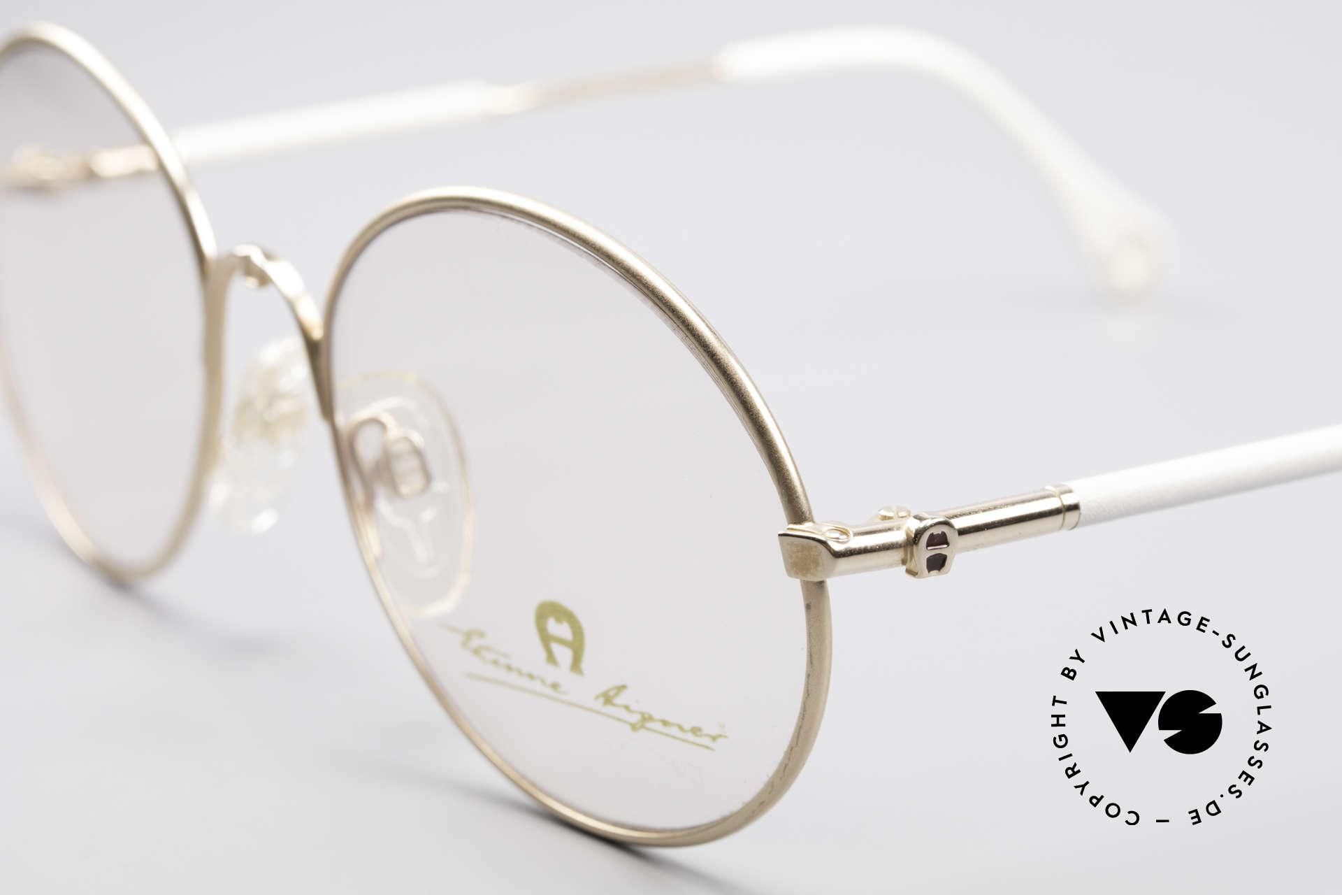 """Aigner EA13 Kleine Runde 80er Brille, ein echtes """"Must-Have"""" für Kenner & Modeliebhaber, Passend für Damen"""