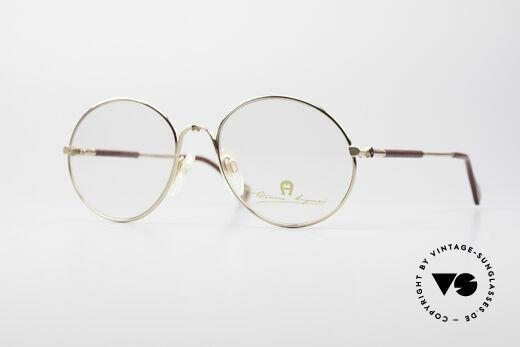 Aigner EA13 Runde 80er Luxus Brille Details