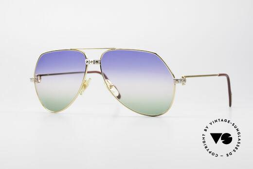 Cartier Vendome Santos - L Rare Luxus Sonnenbrille 80er Details