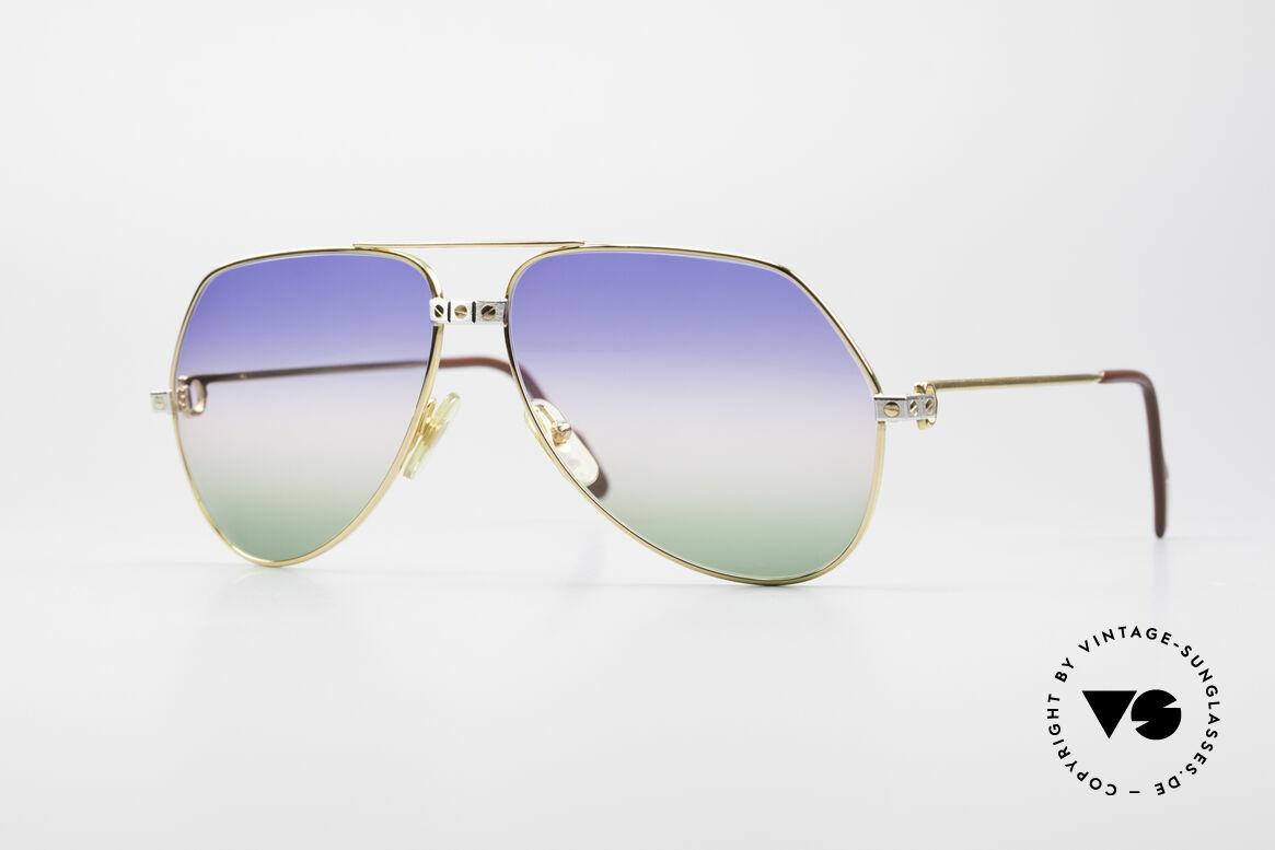 Cartier Vendome Santos - L Rare Luxus Sonnenbrille 80er, Vendome = das berühmteste Brillendesign von CARTIER, Passend für Herren