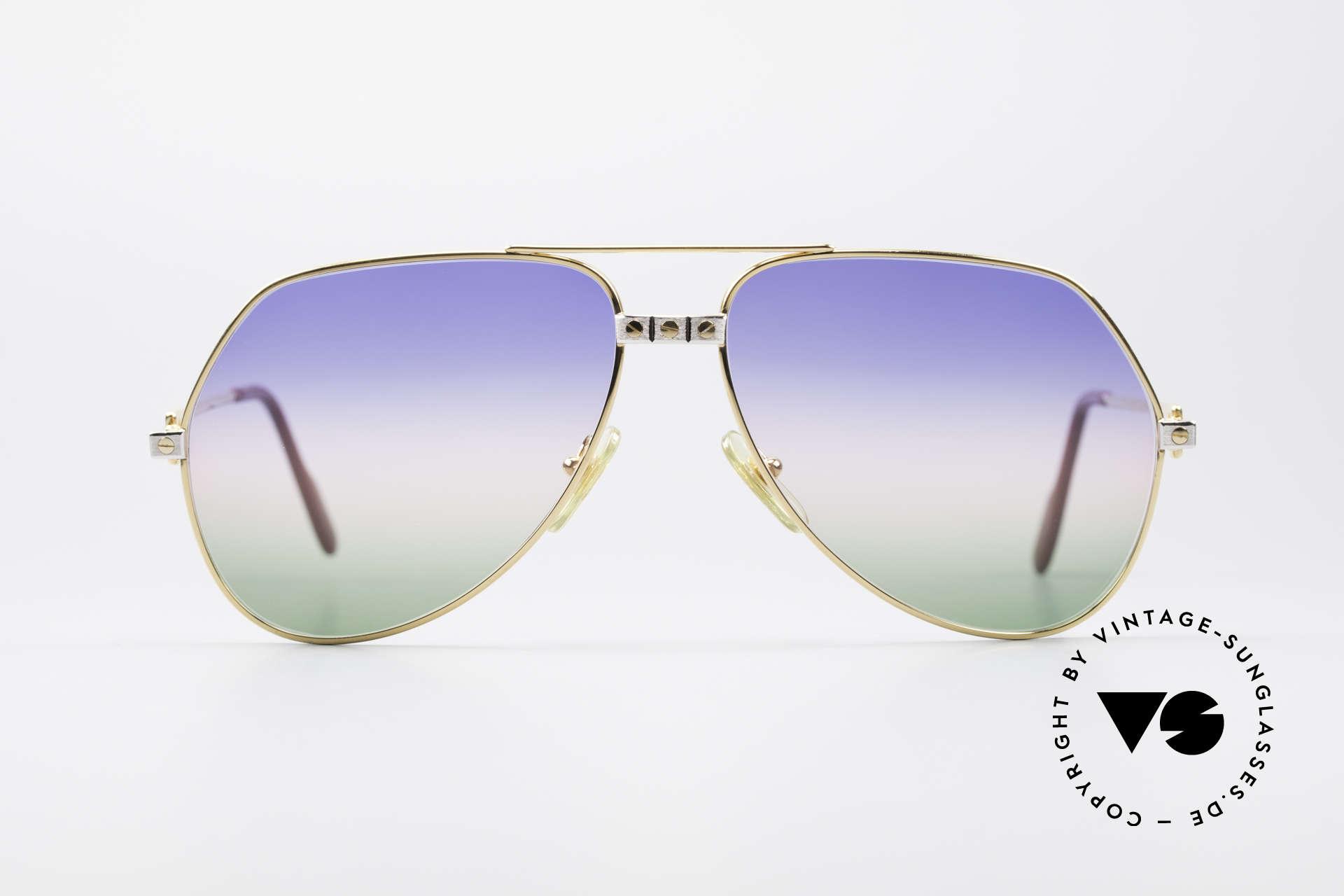 Cartier Vendome Santos - L Rare Luxus Sonnenbrille 80er, wurde 1983 veröffentlicht und dann bis 1997 produziert, Passend für Herren