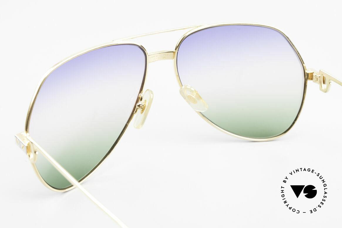 Cartier Vendome Santos - L Rare Luxus Sonnenbrille 80er, mit extrem seltenen customized CR39 Gläsern, 100% UV, Passend für Herren