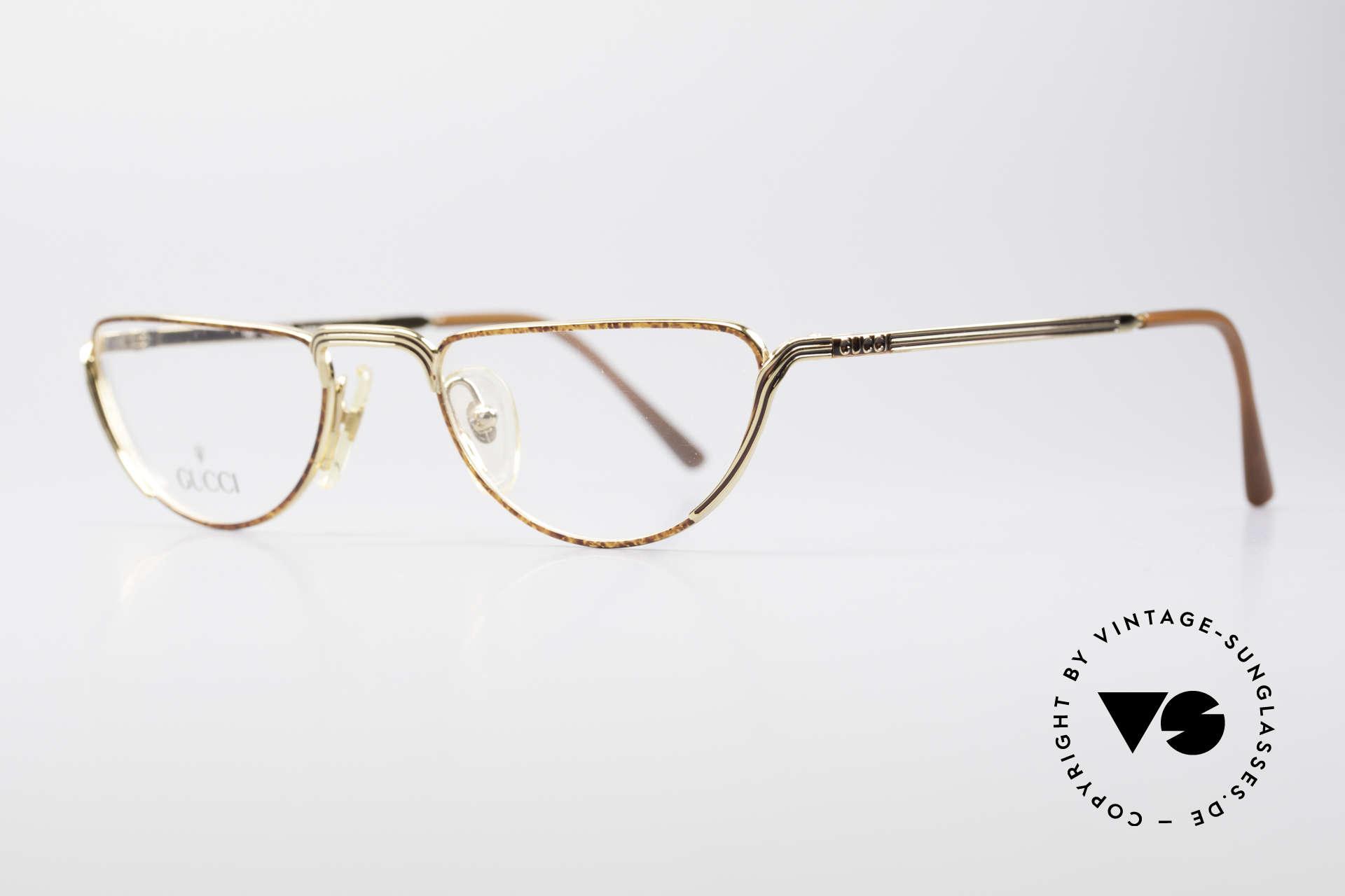 Gucci 2203 Vintage Lesebrille 80er, klassisches Design mit eleganter Rahmen-Kolorierung, Passend für Herren und Damen