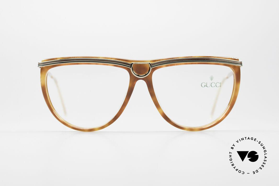 Gucci 2303 Vintage Damenbrille 80er, tolle Kombination der Materialien und der Farben, Passend für Damen