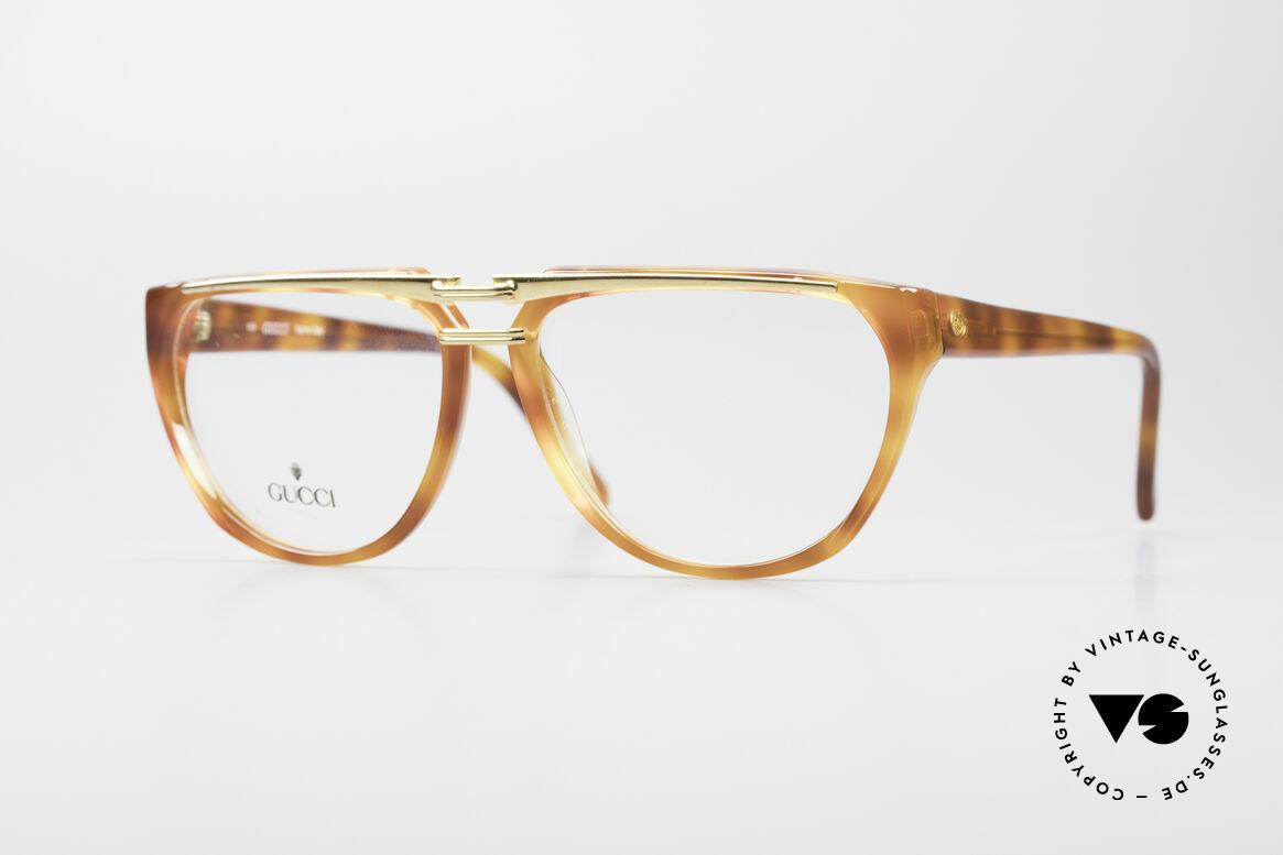Gucci 2321 Designer Damenbrille 80er, vintage 1980er Brille von GUCCI in Schildpatt-Optik, Passend für Damen