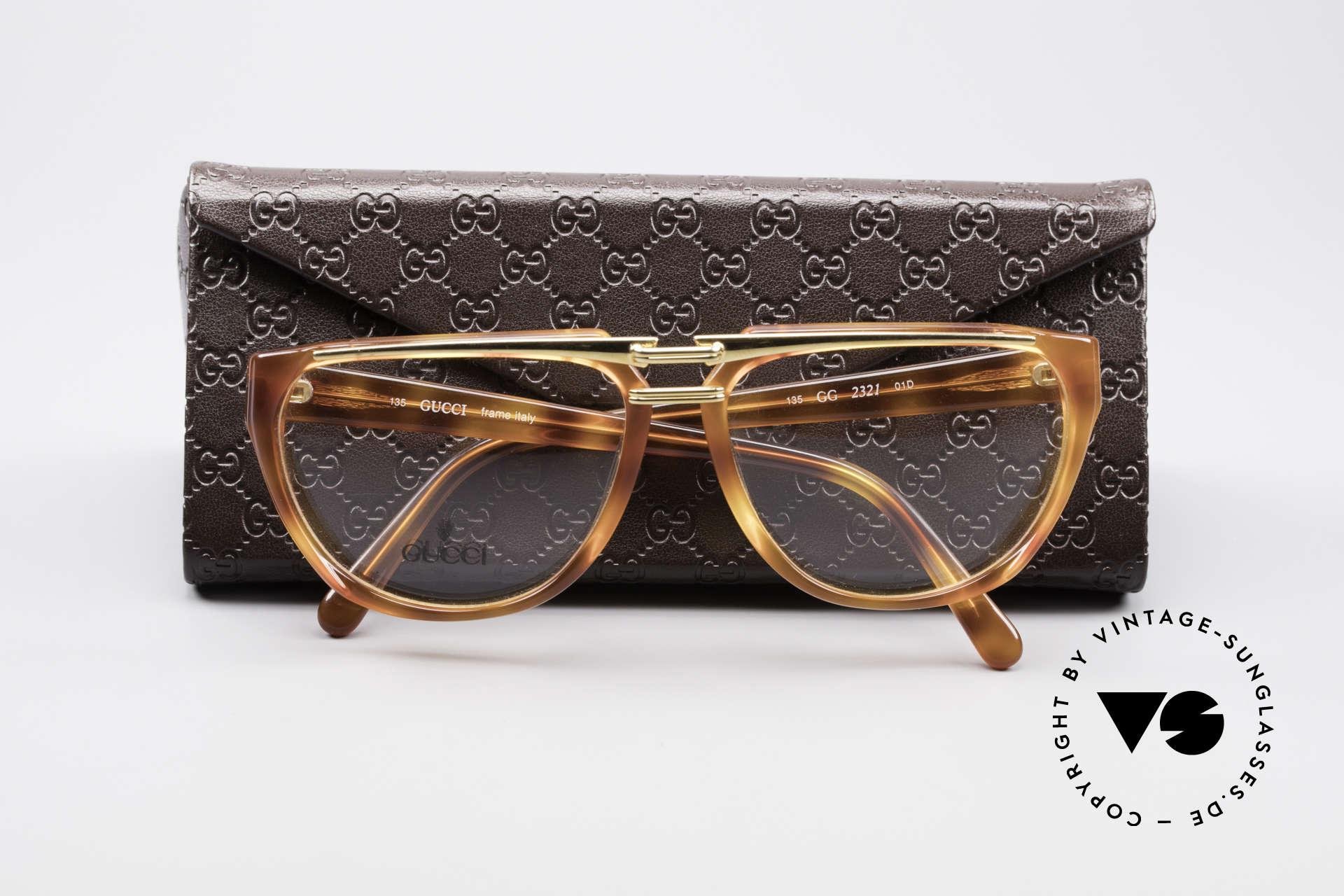 Gucci 2321 Designer Damenbrille 80er, die Fassung ist beliebig verglasbar (optisch / Sonne), Passend für Damen