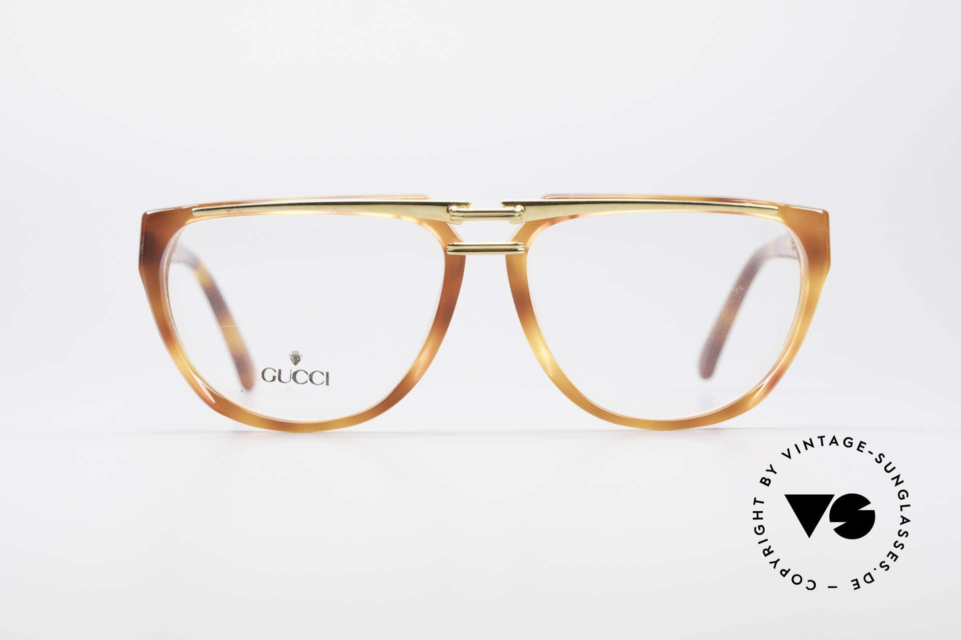 Gucci 2321 Designer Damenbrille 80er, Bügel mit dem berühmten Symbol (die 2 Steigbügel), Passend für Damen