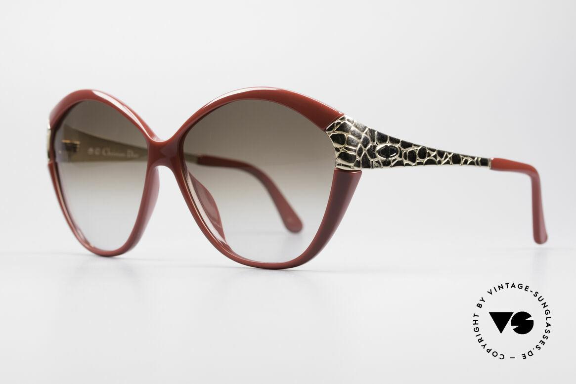 Christian Dior 2319 Damen Designersonnenbrille, edle, vergoldete Bügel in einer Art 'Croco'-Muster, Passend für Damen