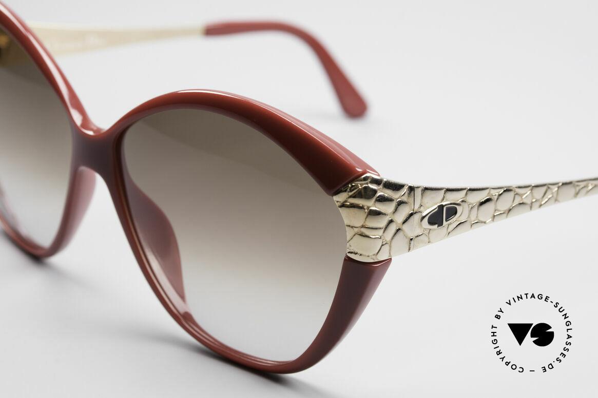 Christian Dior 2319 Damen Designersonnenbrille, Front in bordeaux-Rot (originell & äußerst selten), Passend für Damen