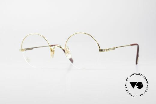 Cartier Mayfair - S Runde Vintage Luxusbrille Details