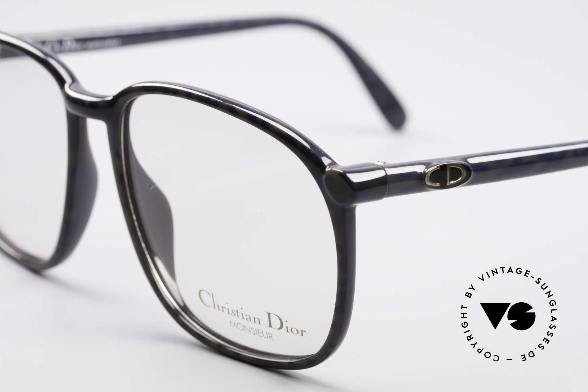 Christian Dior 2341 80er Optyl Monsieur Brille, zudem, sehr dezent elegantes Farbmuster in graublau, Passend für Herren