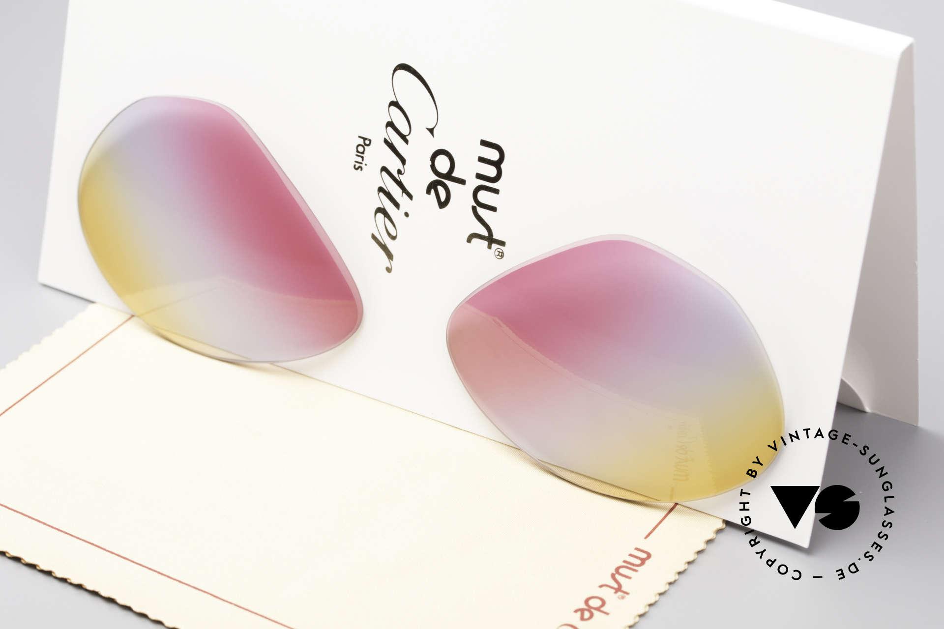 Cartier Vendome Lenses - M Tricolored Sunrise Gläser, neue CR39 UV400 Kunststoff-Gläser (100% UV Schutz), Passend für Herren und Damen