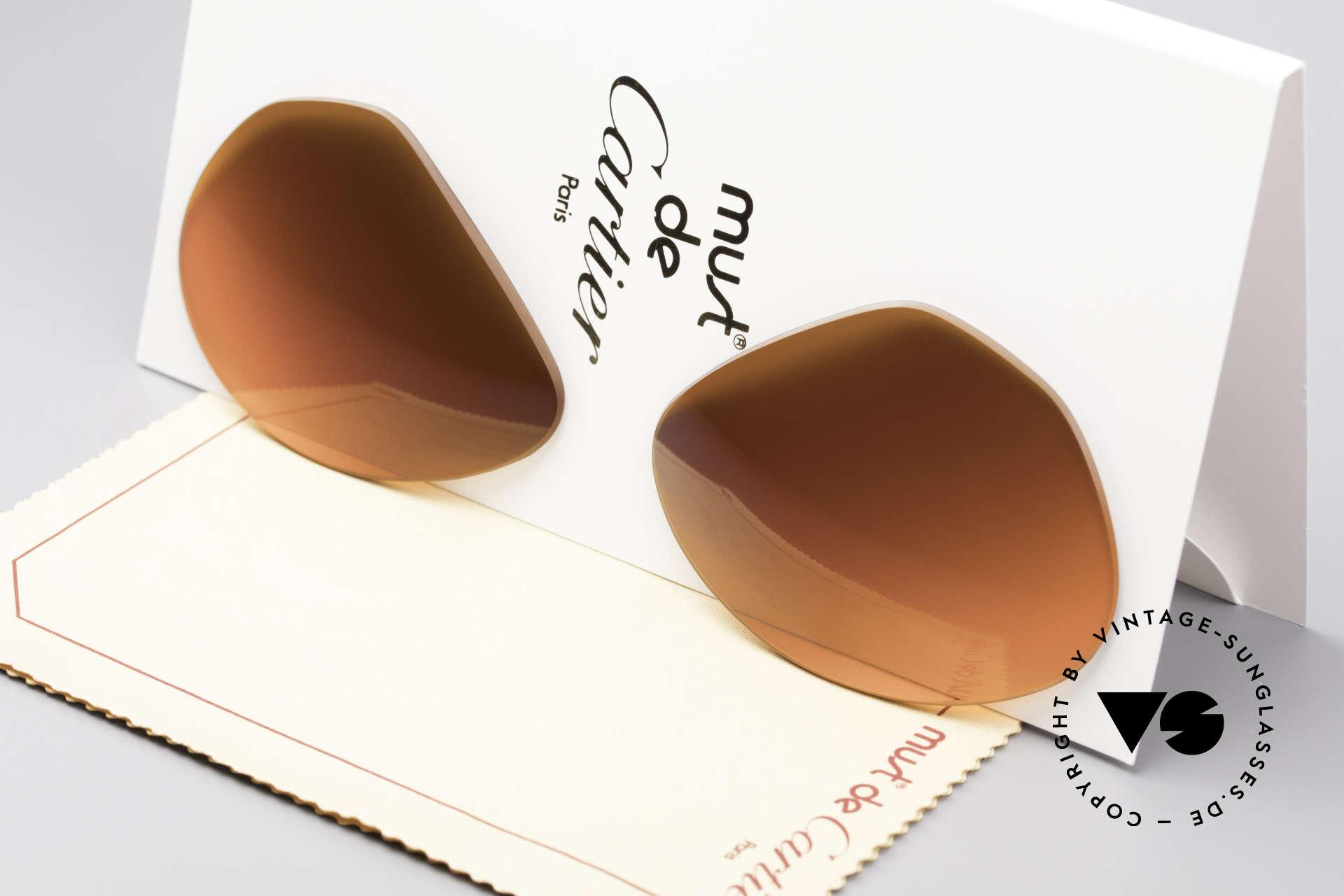 Cartier Vendome Lenses - L Sonnengläser Abendrot, neue CR39 UV400 Kunststoff-Gläser (100% UV Schutz), Passend für Herren