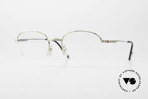 Cartier Colisee Runde Luxus Platin Brille Details