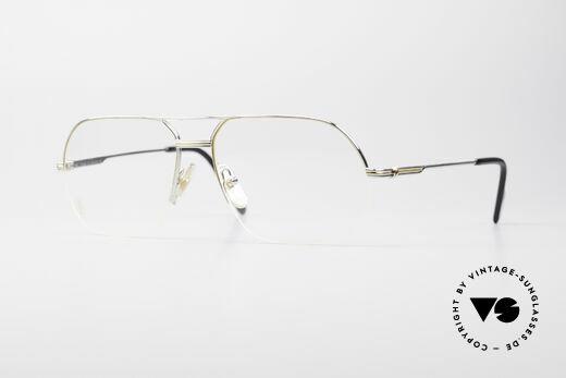 Cartier Orsay Halbrand Luxus Platin Brille Details
