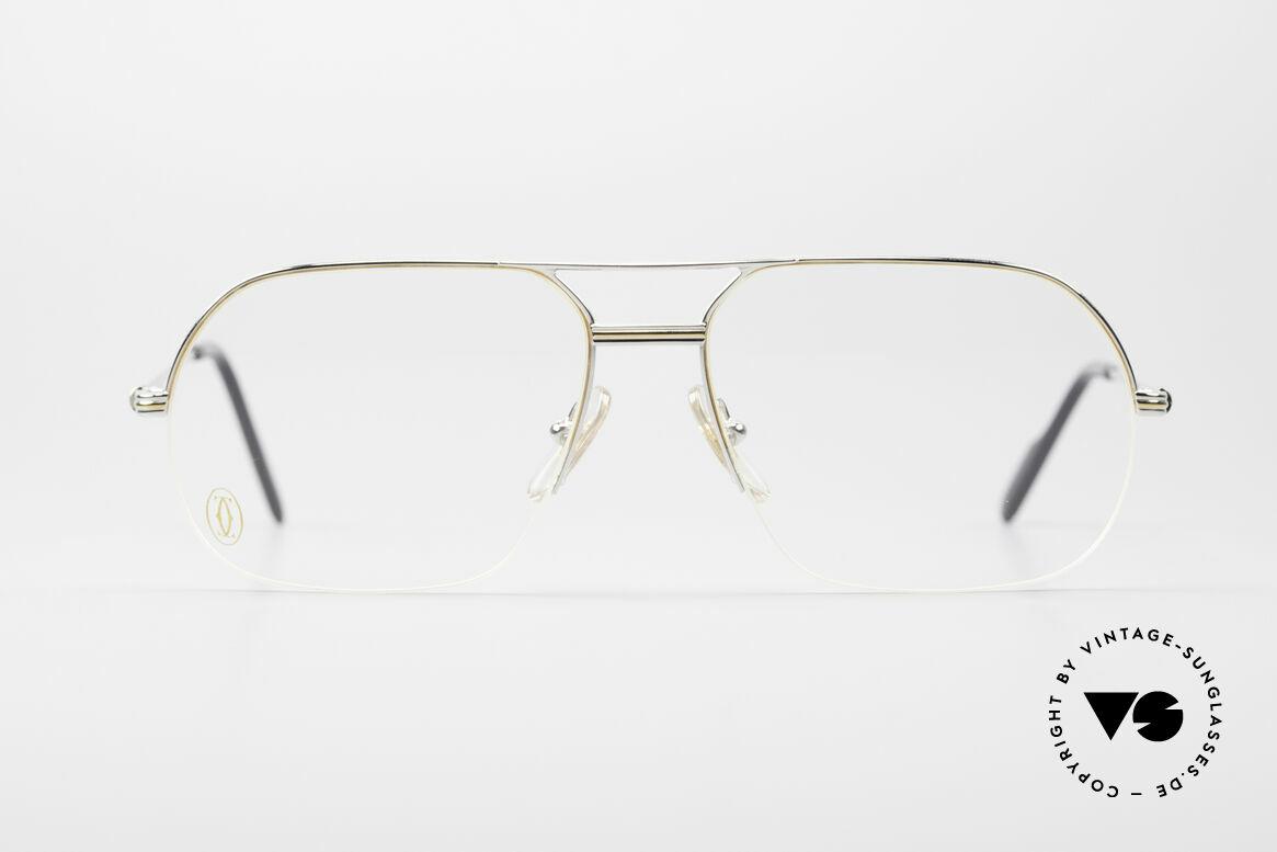 Cartier Orsay Halbrand Luxus Platin Brille