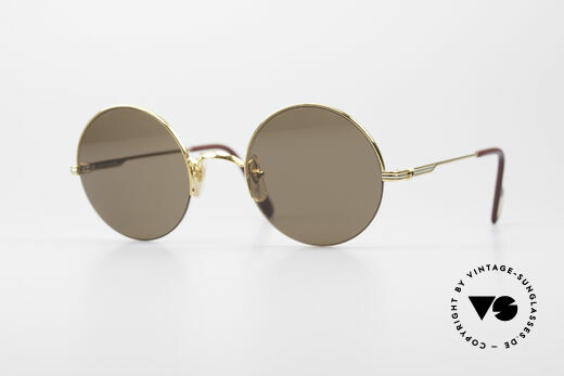 Cartier Mayfair - M Runde Luxus Sonnenbrille Details