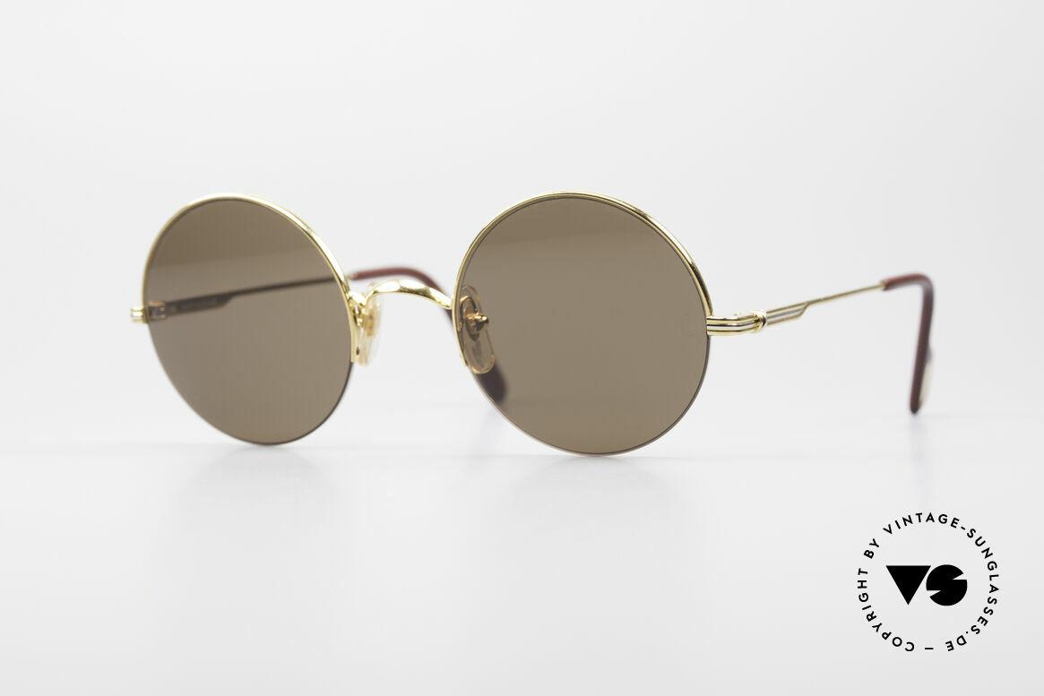 Cartier Mayfair - M Runde Luxus Sonnenbrille, edles Cartier vintage Modell aus den 1990ern, Passend für Herren und Damen