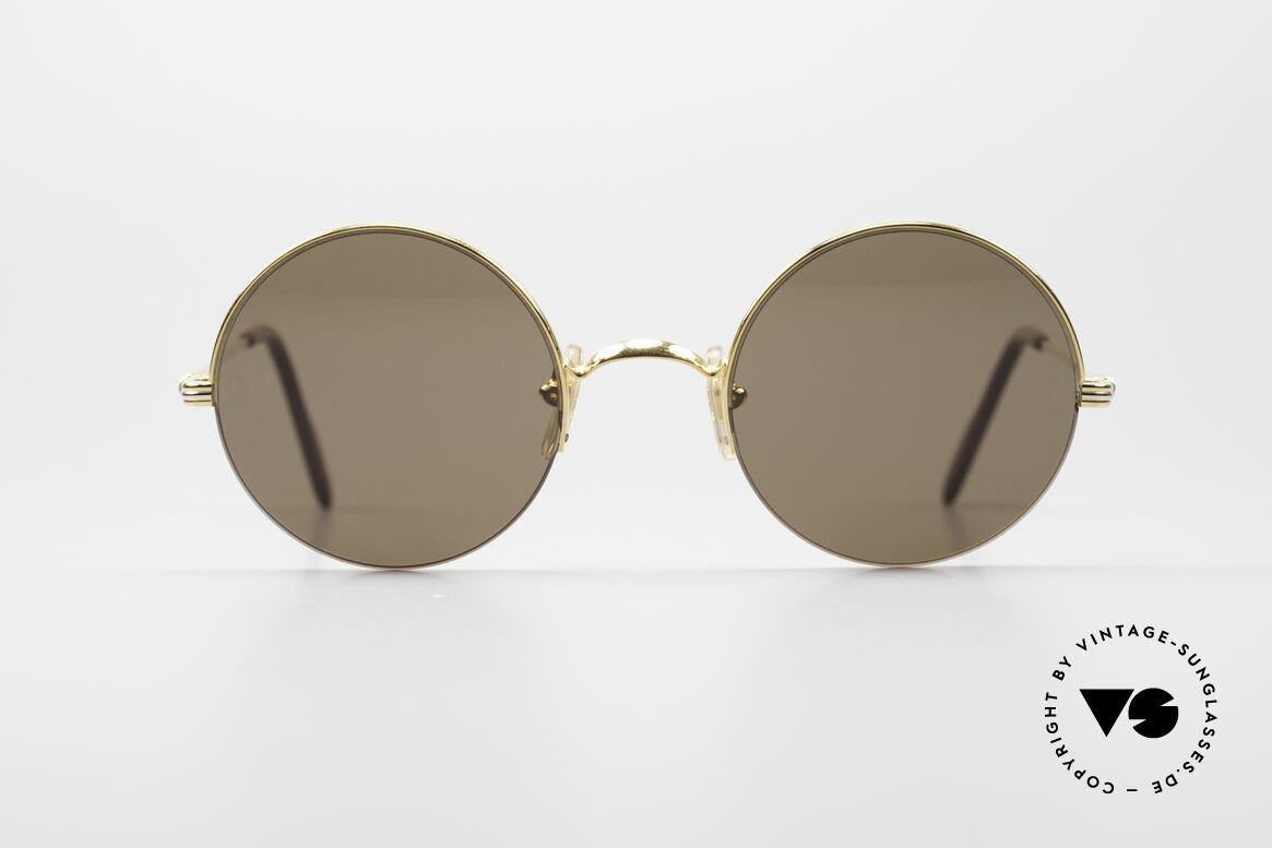 Cartier Mayfair - M Runde Luxus Sonnenbrille, runde Designer-Sonnenbrille in M Größe 47°22, Passend für Herren und Damen