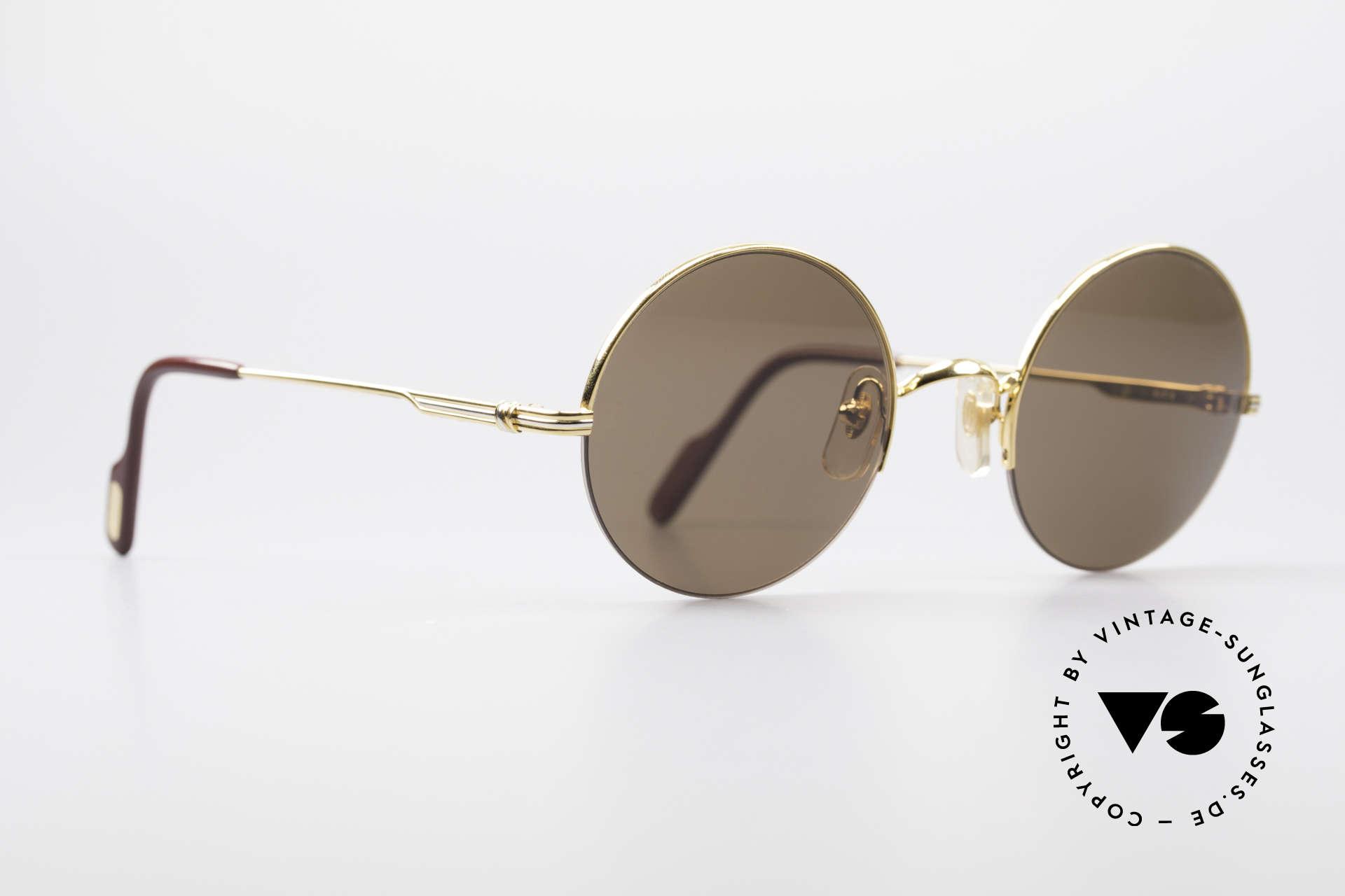 Cartier Mayfair - M Runde Luxus Sonnenbrille, teures Original in scheinbar zeitlosem Design, Passend für Herren und Damen