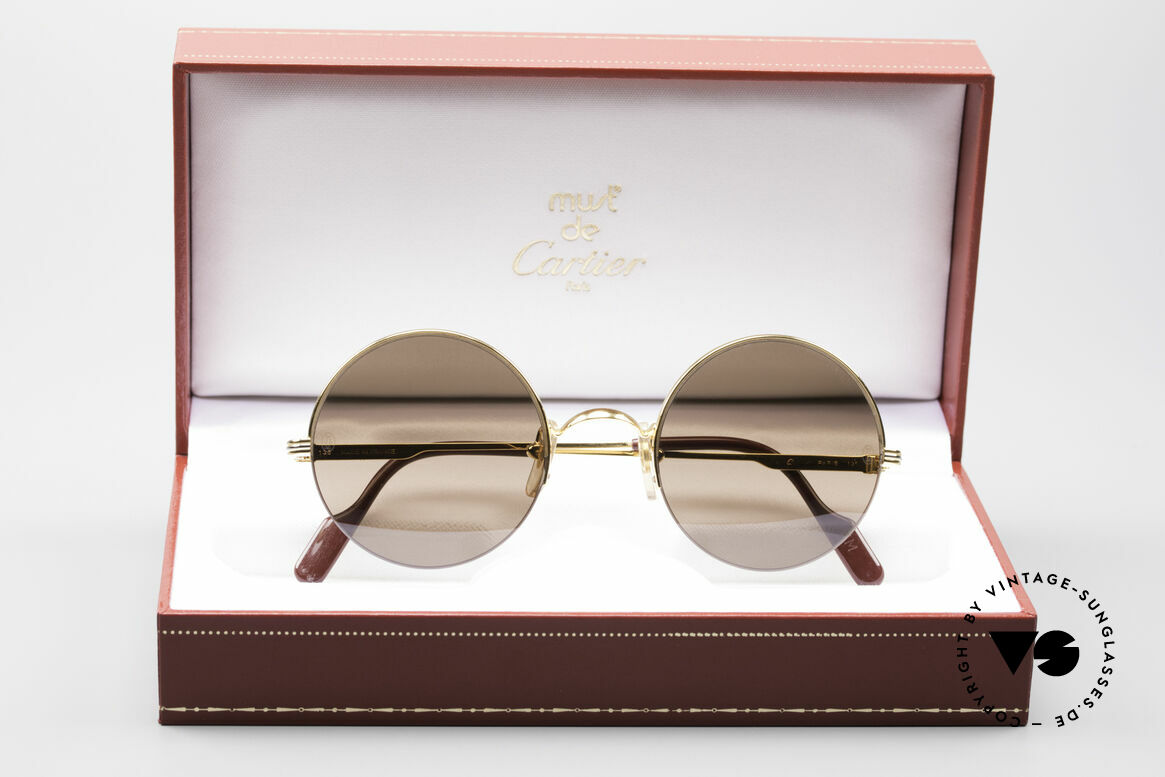 Cartier Mayfair - M Runde Luxus Sonnenbrille, inkl. original Cartier Box, Etui und Zertifikaten, Passend für Herren und Damen