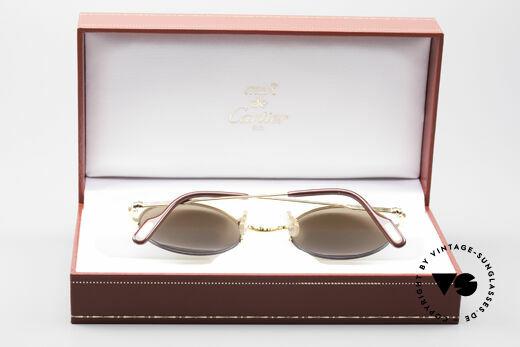Cartier Mayfair - M Runde Luxus Sonnenbrille, ungetragener Top-Zustand (Gläser mit Gravur!), Passend für Herren und Damen