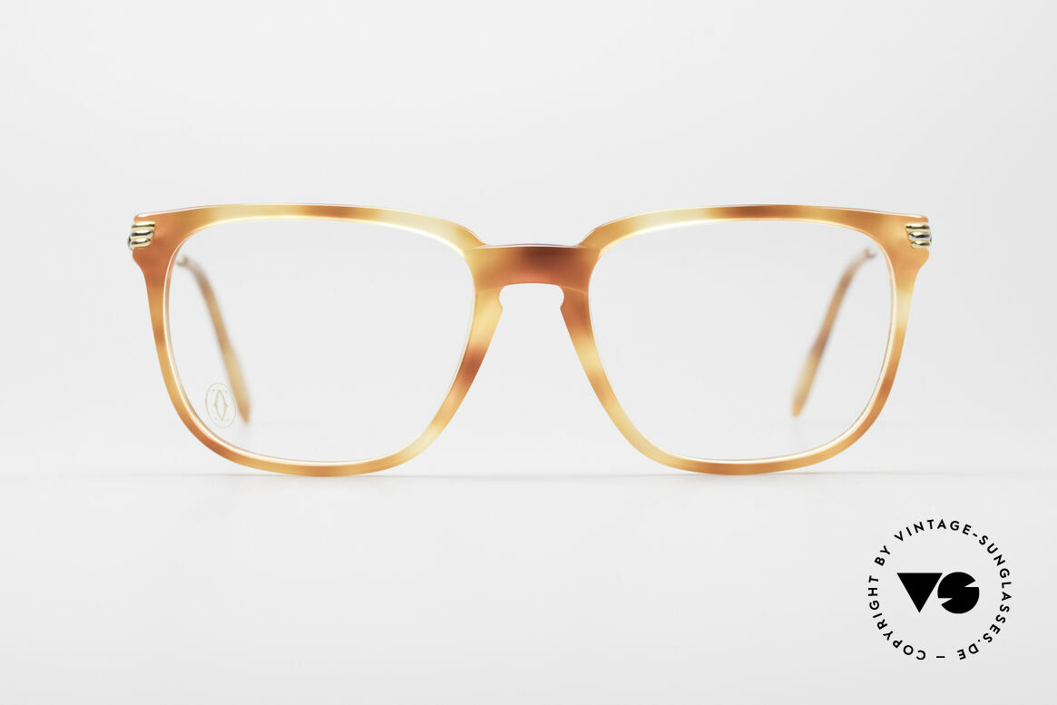 Cartier Reflet 90er Luxus Brillengestell, elegante Cartier Designerbrille in Größe 54°18,135, Passend für Herren und Damen