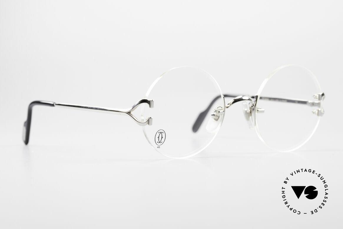 Cartier Madison Runde Randlose Platin Brille
