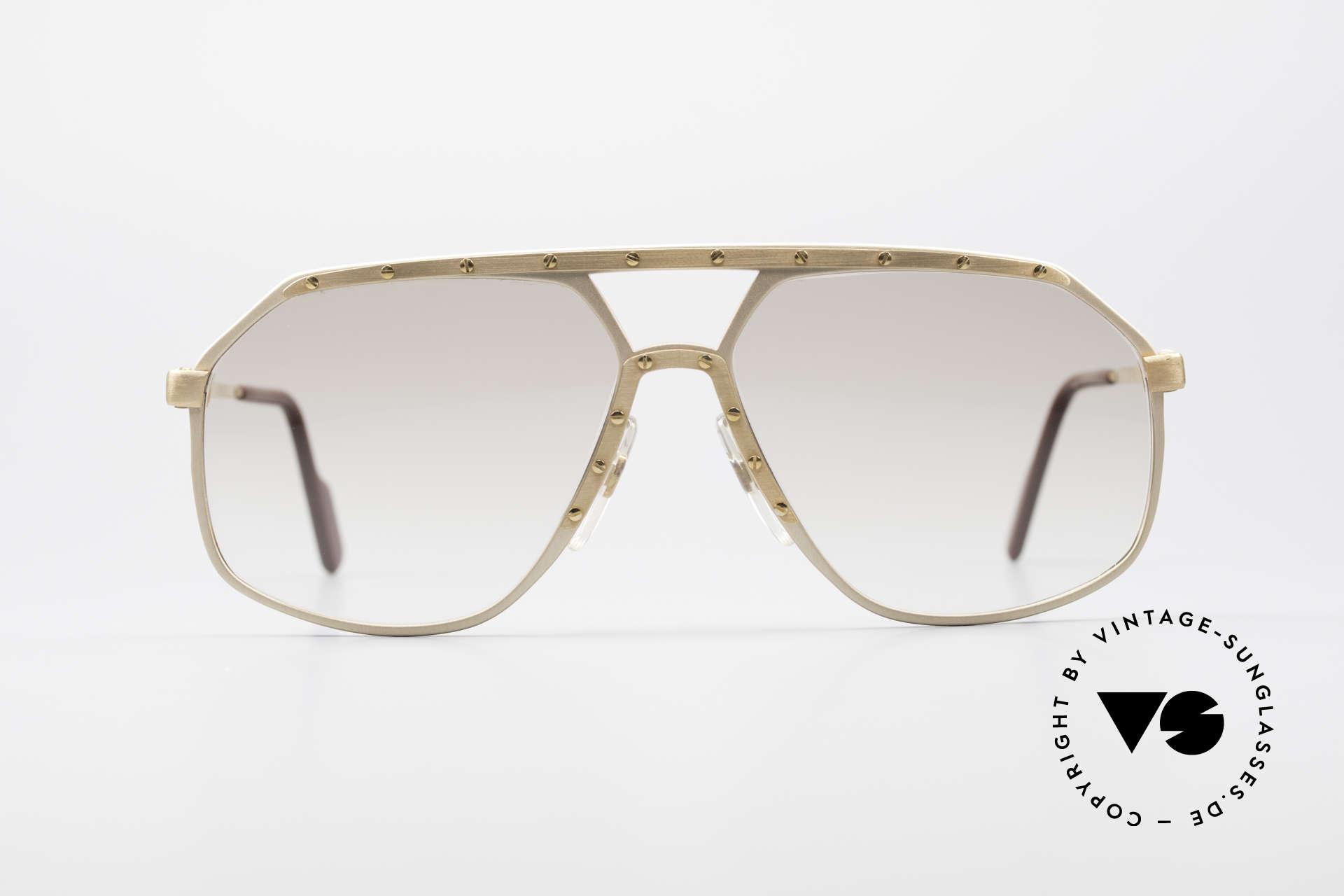 Alpina M6 Echte Alte 80er Vintage Brille, ein kostbares ORIGINAL aus den 80ern; W.Germany, Passend für Herren