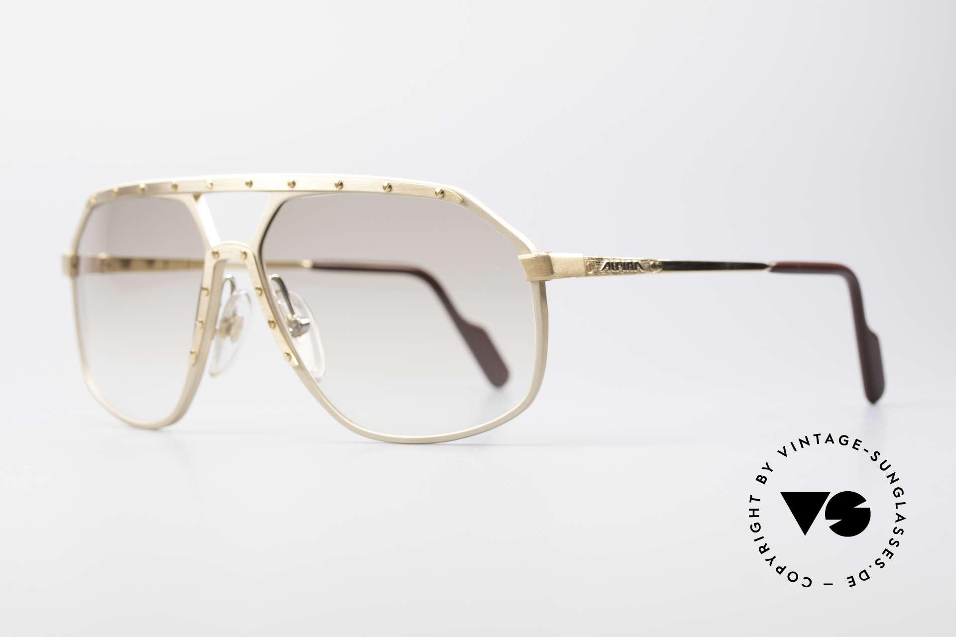 Alpina M6 Echte Alte 80er Vintage Brille, weltberühmt für sein Schrauben-Design; Gr. 60-14, Passend für Herren