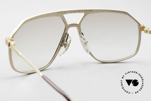 Alpina M6 Echte Alte 80er Vintage Brille, KEINE RETRObrille; VINTAGE Rarität + Versace Etui, Passend für Herren