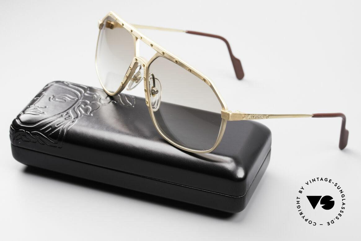 Alpina M6 Legendäre 80er Sonnenbrille, Größe: medium, Passend für Herren