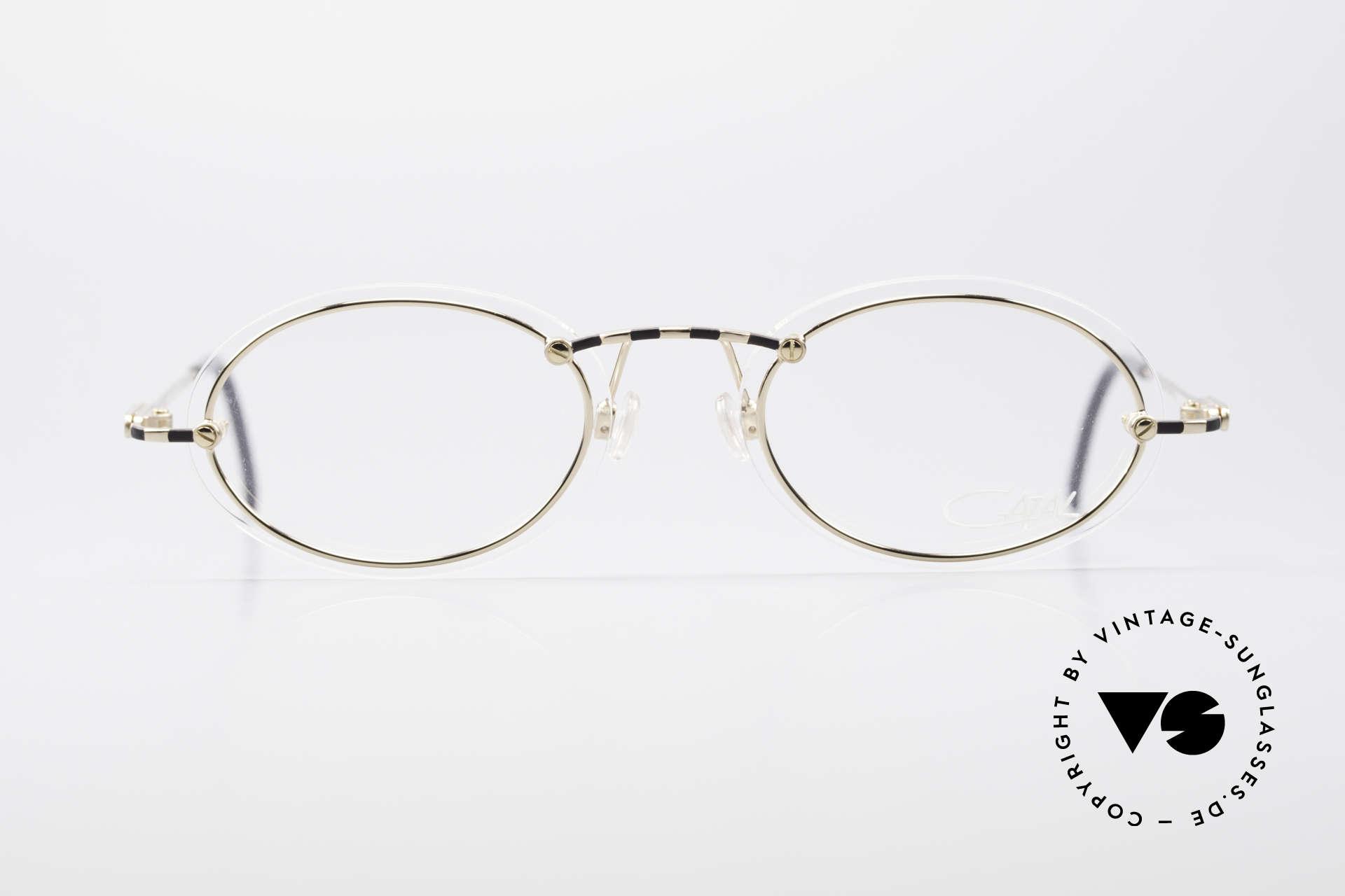 Cazal 770 90er Vintagebrille No Retro, dünne und schmale Rahmenprofile (daher 16g leicht), Passend für Herren und Damen