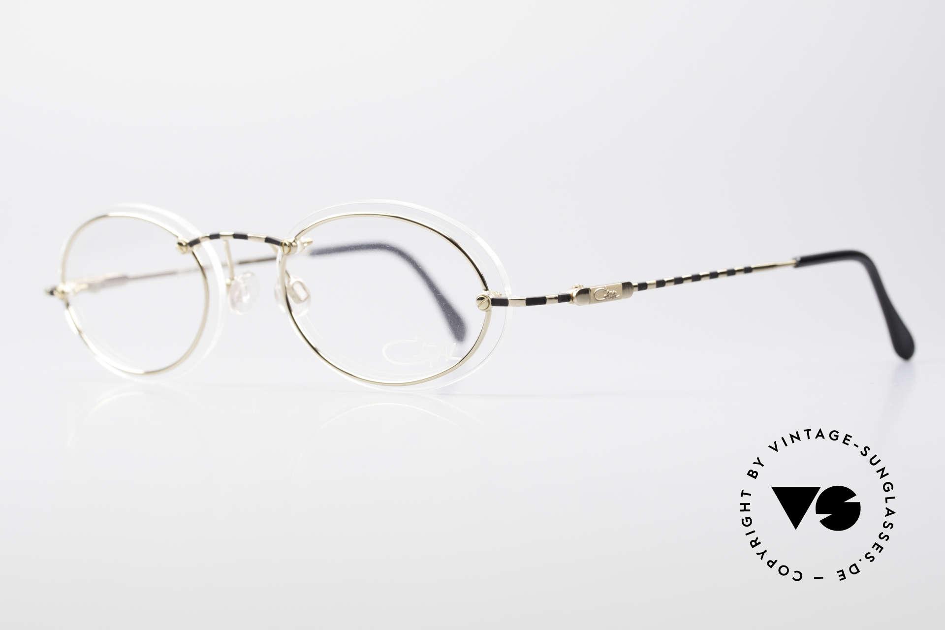 Cazal 770 90er Vintagebrille No Retro, auf den 1. Blick minimalistisch; jedoch sehr raffiniert, Passend für Herren und Damen