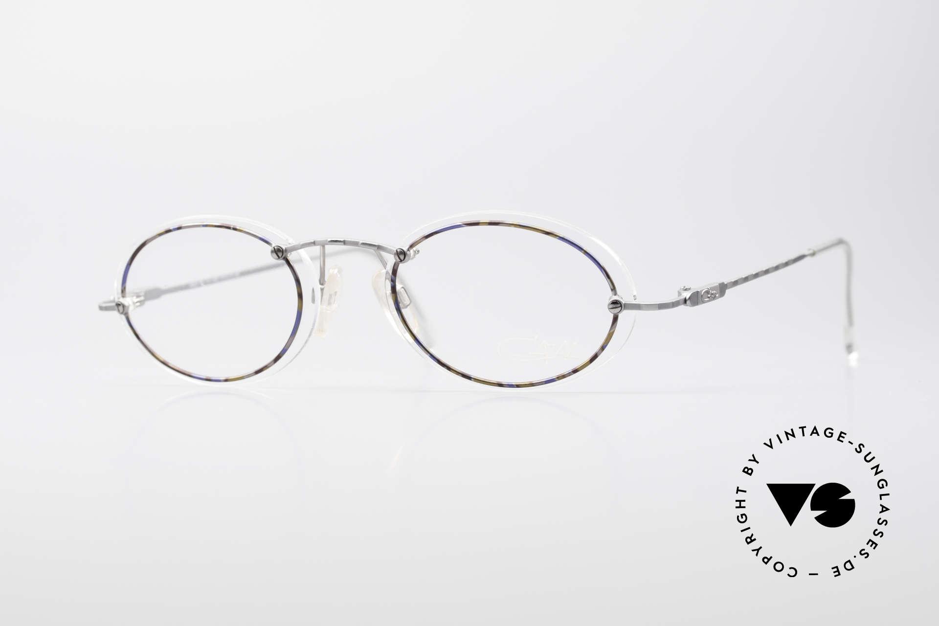 Cazal 770 Ovale Vintagebrille No Retro, filigrane Cazal vintage Brillenfassung von ca. 1998/99, Passend für Herren und Damen