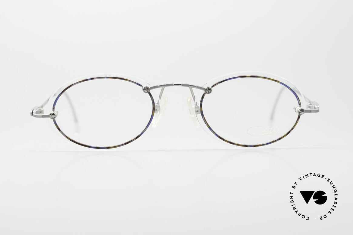 Cazal 770 Ovale Vintagebrille No Retro, dünne und schmale Rahmenprofile (daher 16g leicht), Passend für Herren und Damen