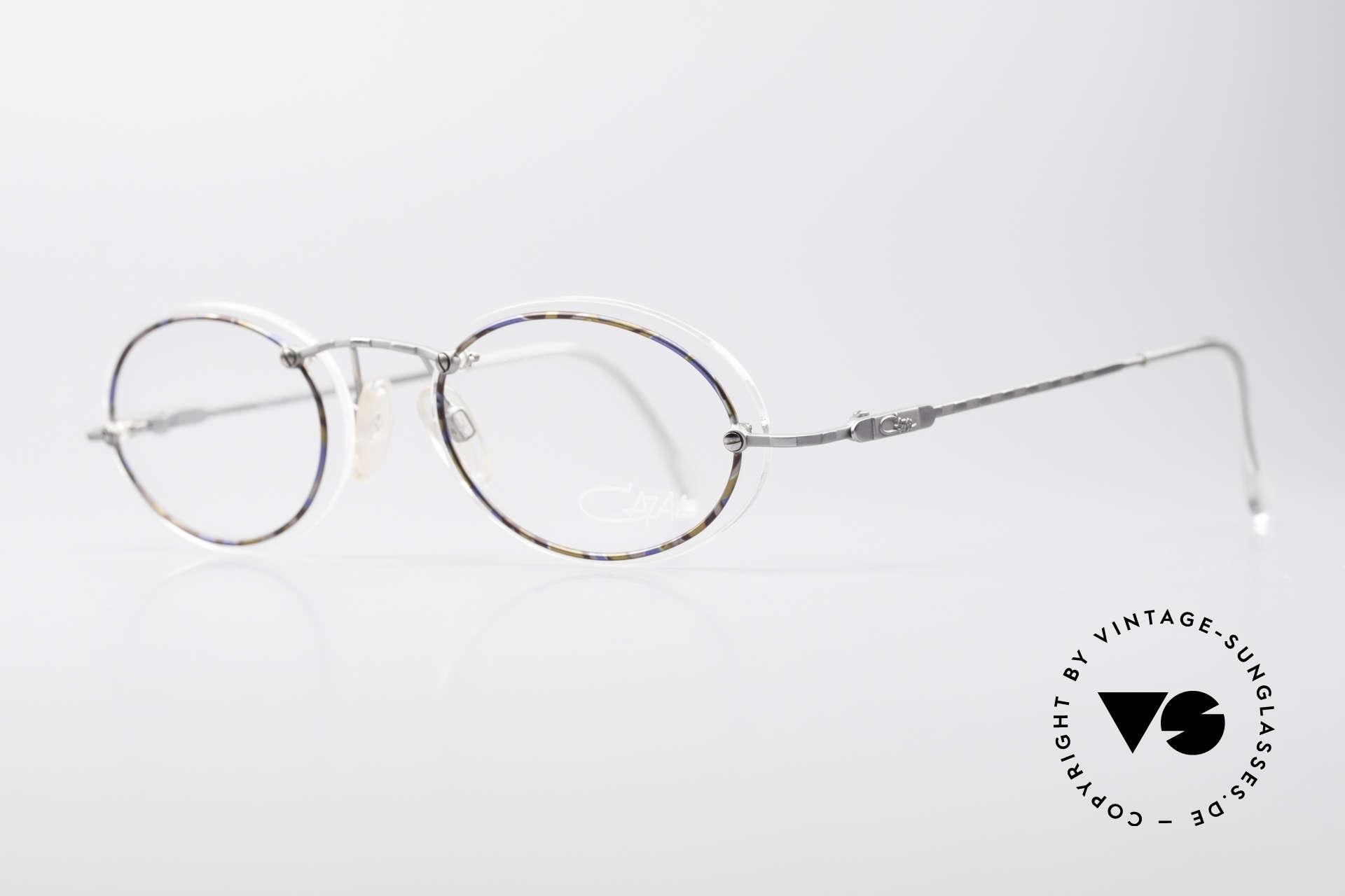 Cazal 770 Ovale Vintagebrille No Retro, auf den 1. Blick minimalistisch; jedoch sehr raffiniert, Passend für Herren und Damen