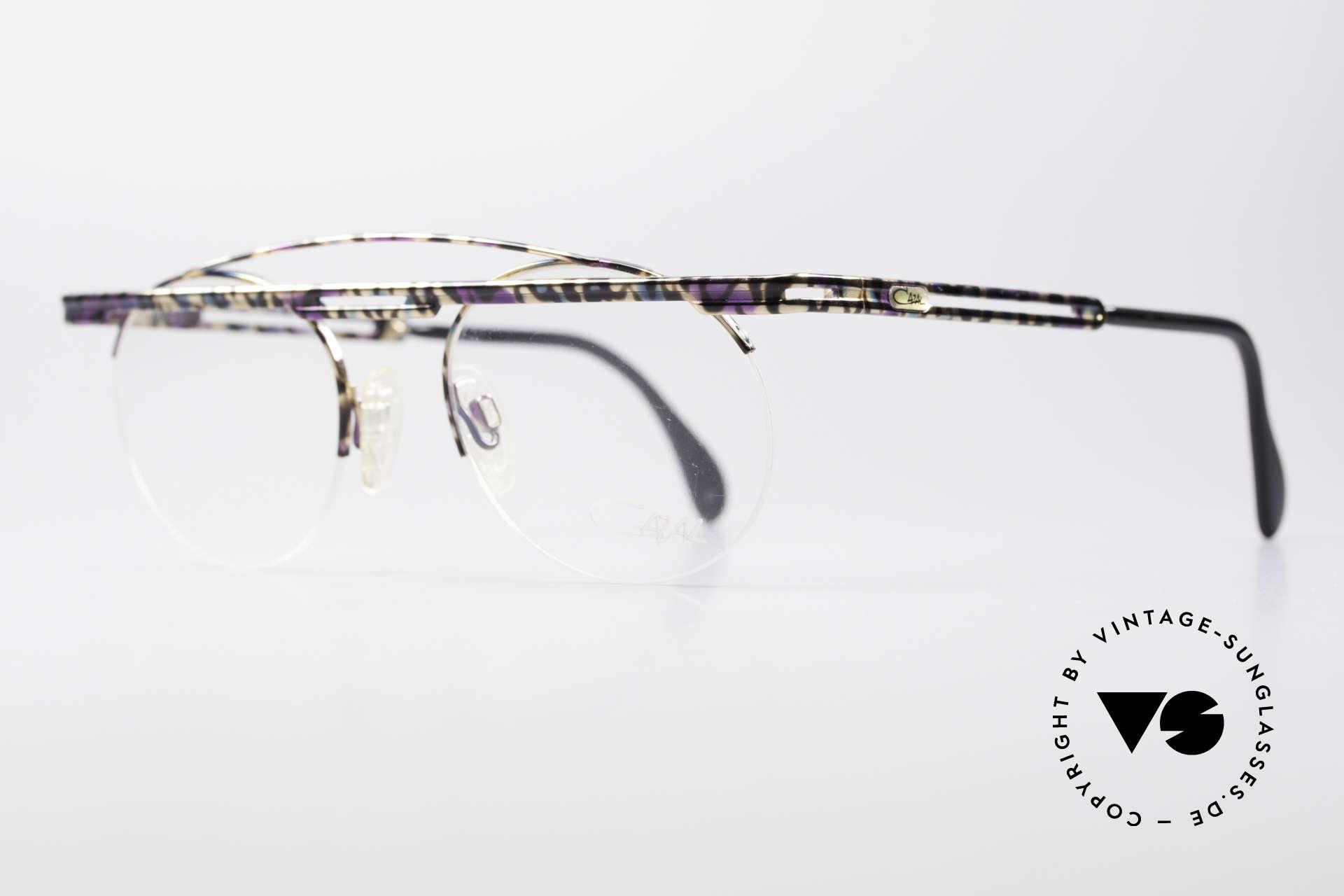 Cazal 748 Crazy Vintage No Retrobrille, aufwändige Lackierung (typisch für die alten Cazals), Passend für Herren und Damen