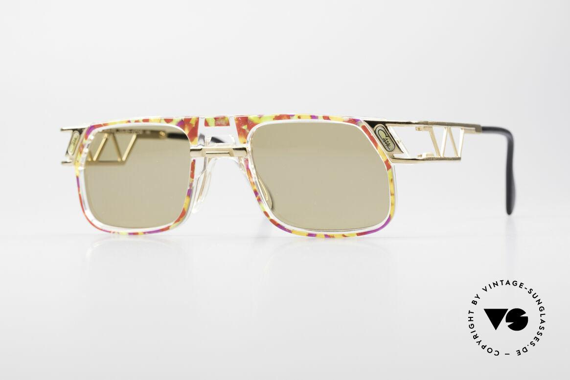 Cazal 876 90er Designer Sonnenbrille, flippige Cazal Designer-Sonnenbrille der frühen 1990er, Passend für Herren und Damen