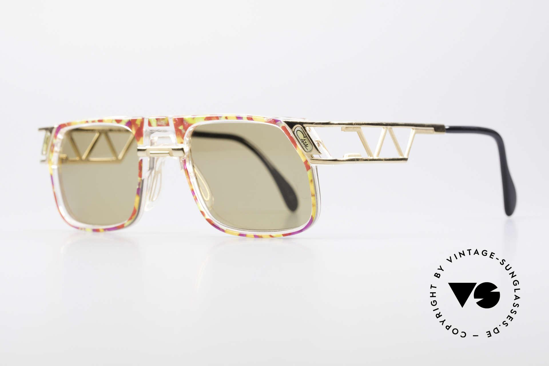 Cazal 876 90er Designer Sonnenbrille, einzigartige Konstruktion & aufwendige Farbgestaltung, Passend für Herren und Damen